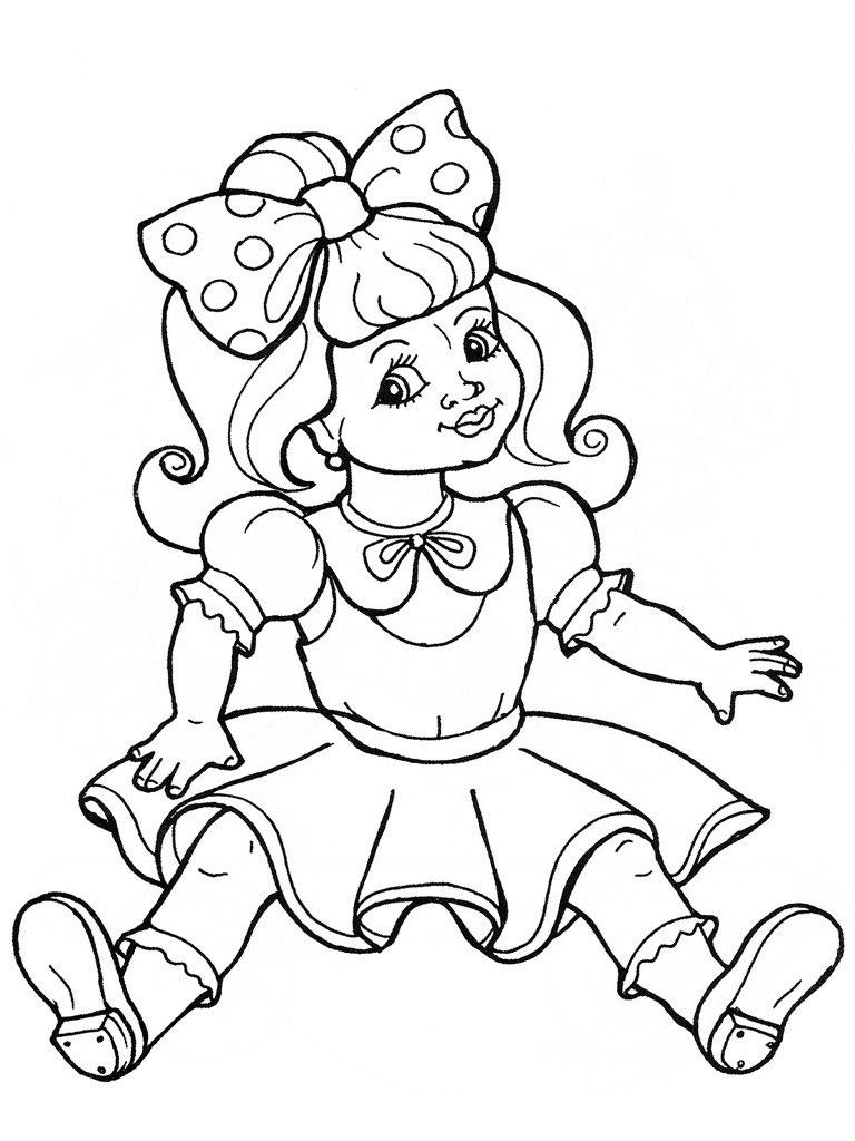 раскраска кукла картинка
