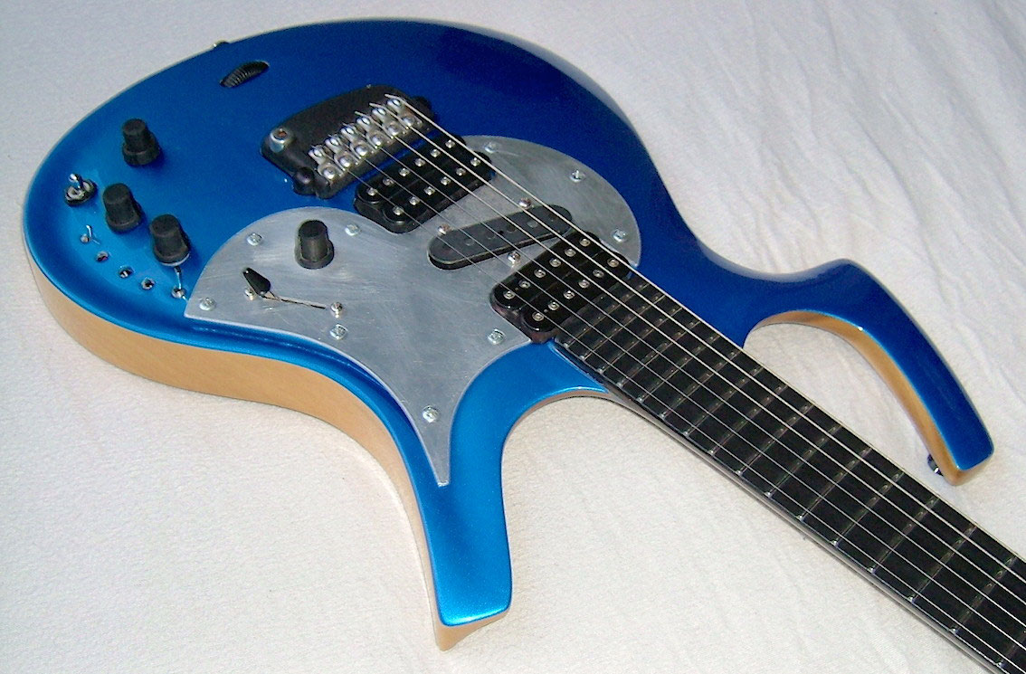 Parker Fly Deluxe Us Made Early 90s Madly Modded Guitarfritzs Guitar 3 Way Blade Switch Wiring Not Only The Middle Pickup And Pickguard 5 Were Added