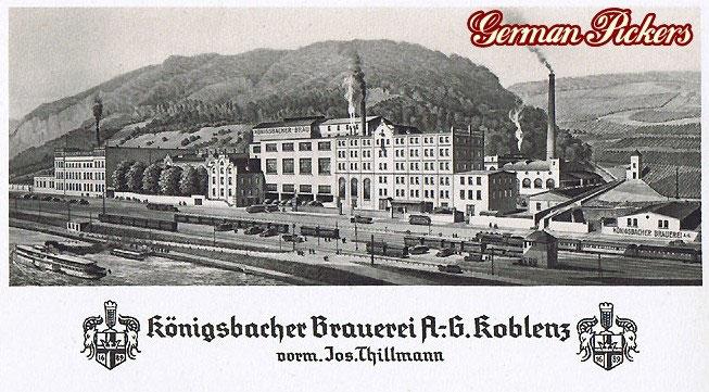 Thillmann Koblenz ansichtskarten alte reklame emailschilder mehr