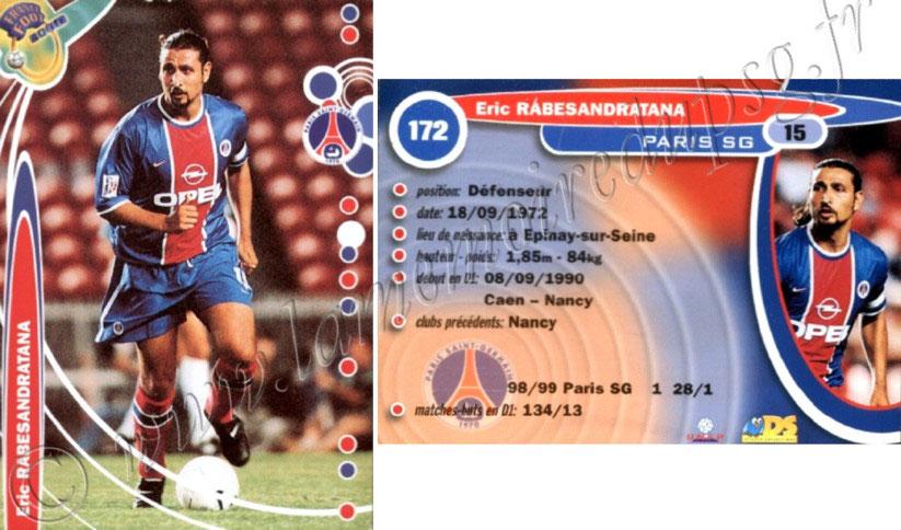 N°172 Paris Carte France  Foot 2000 Eric Rabesandratana