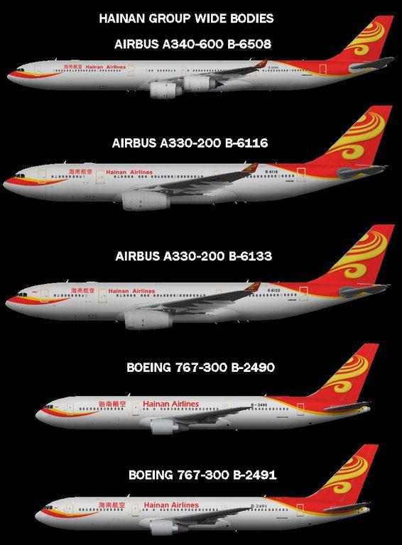 Hainan Group - Flyingcarpet's flightsim repaints