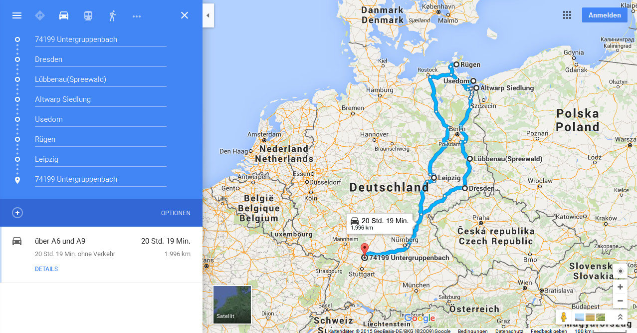 Haupturlaub vom 9.9.9 bis 9.9.9 nach Lübbenau/Spreewald
