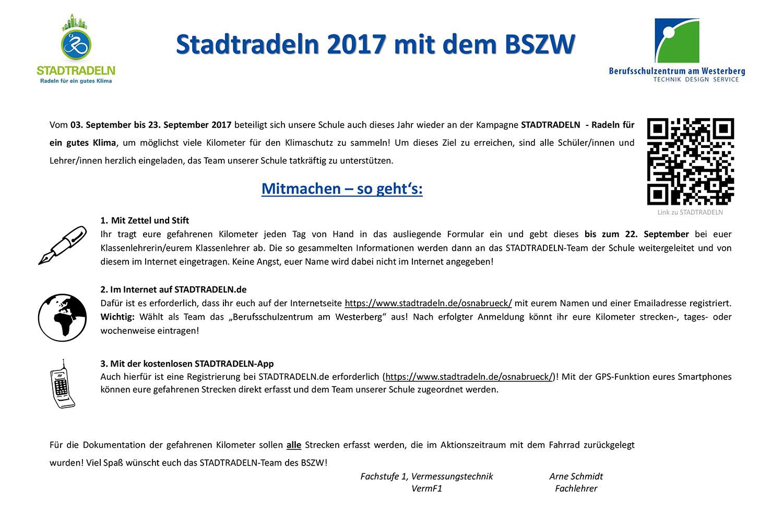 Angehende Vermessungstechniker unterstützen die Aktion STADTRADELN ...