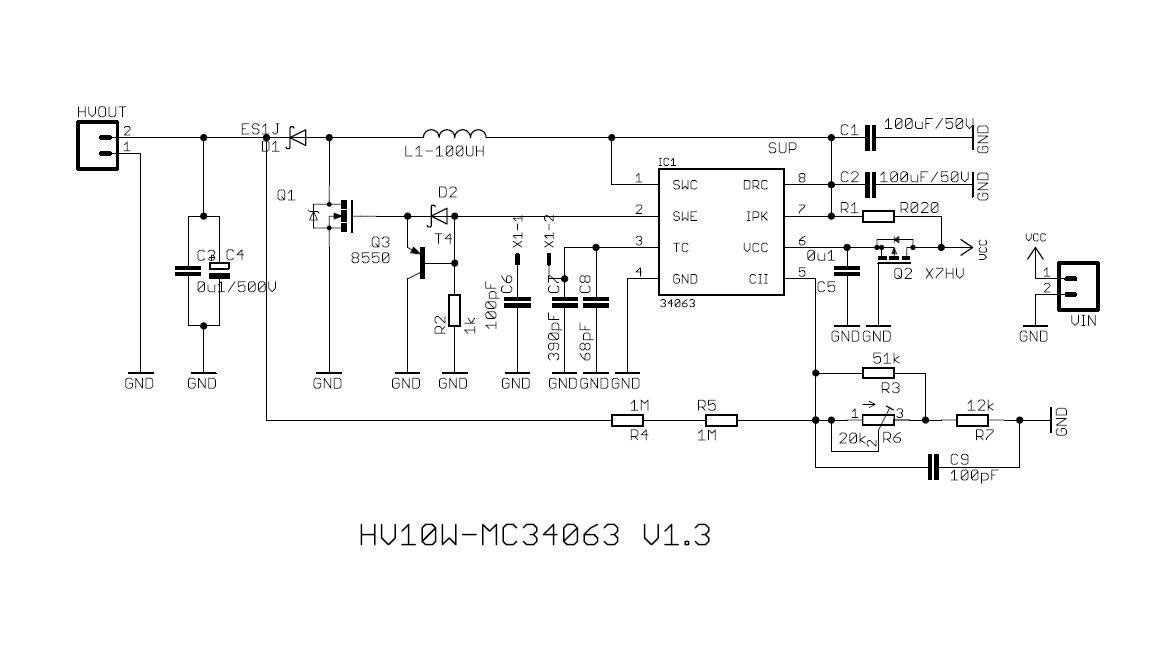 Amazing Kit Build A High Voltage Power Supply By Using The Mc34063 Chip Wiring Database Plangelartorg