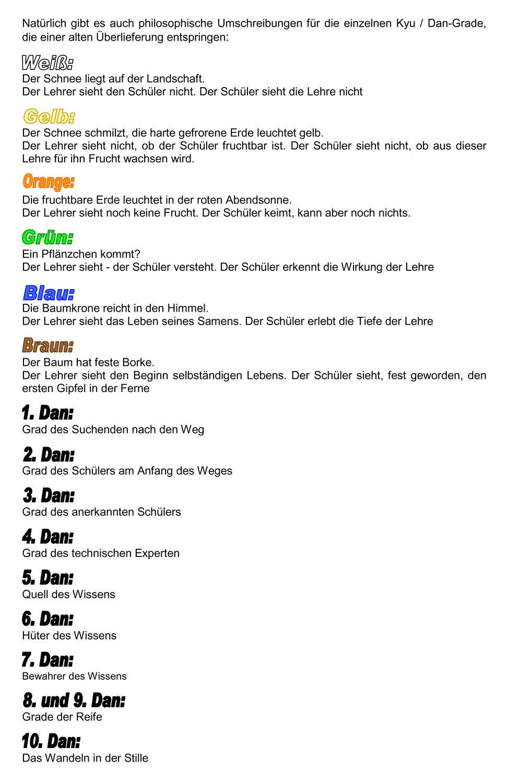 867c6bc7bf191 Die Gürtelsysteme und ihre Bedeutung - BUDOKAN SELB