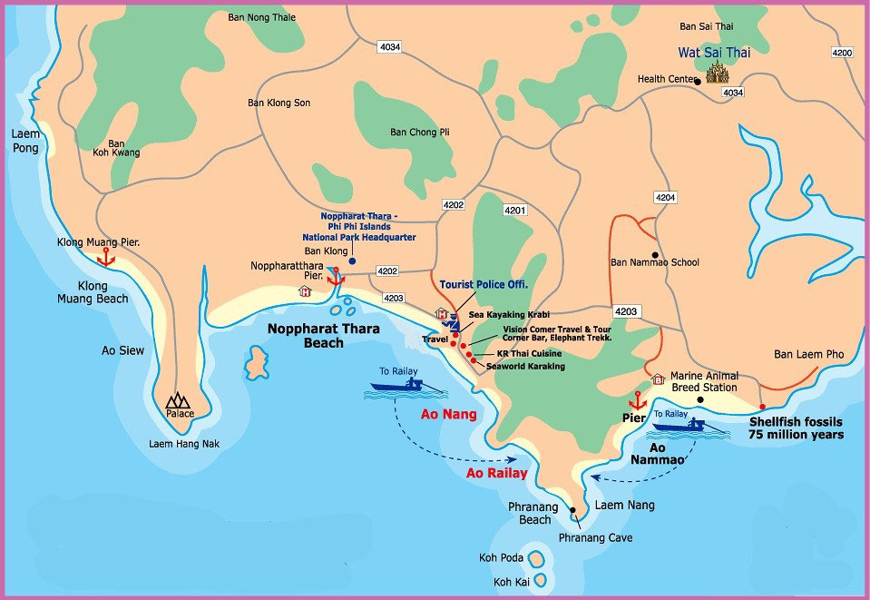 Thailand Inseln Karte.Krabi Sprungbrett Zu Den Südlichen Inseln Urlaub In Thailand Erleben