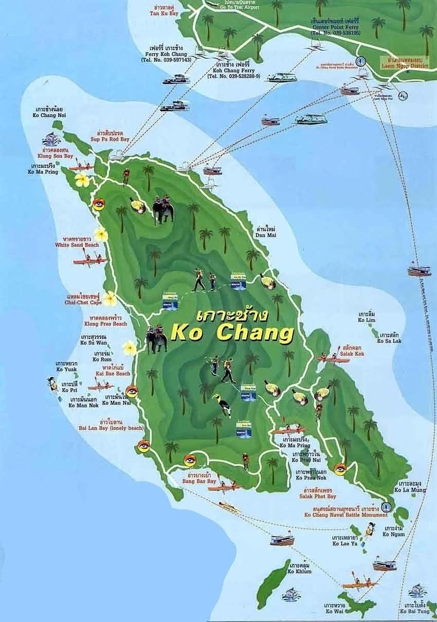 Thailand Inseln Karte.Koh Chang Angenehmes Klima Top Hotels Urlaub In Thailand Erleben