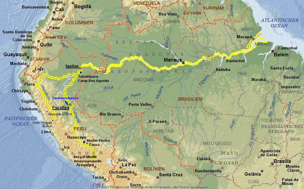 amazonas karte Landkarte Amazonas | Deutschland Karte