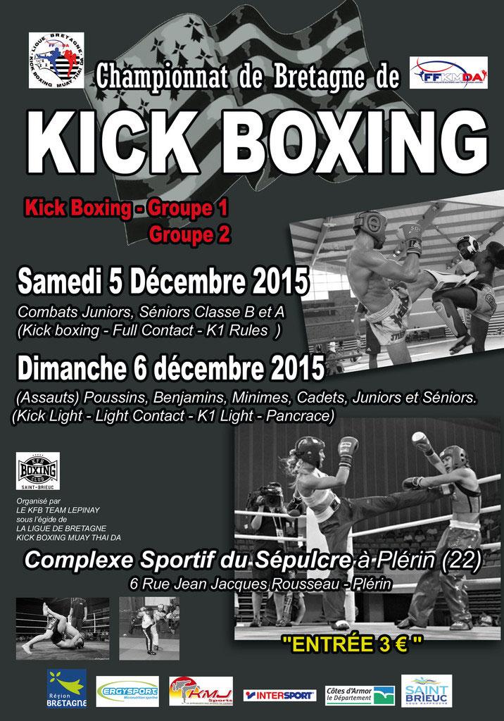 Le KFB Boxing Club Briochin organise les championnats de Bretagne de KICK  BOXING Groupe 1 et Groupe 2. 3ce9190dfe5