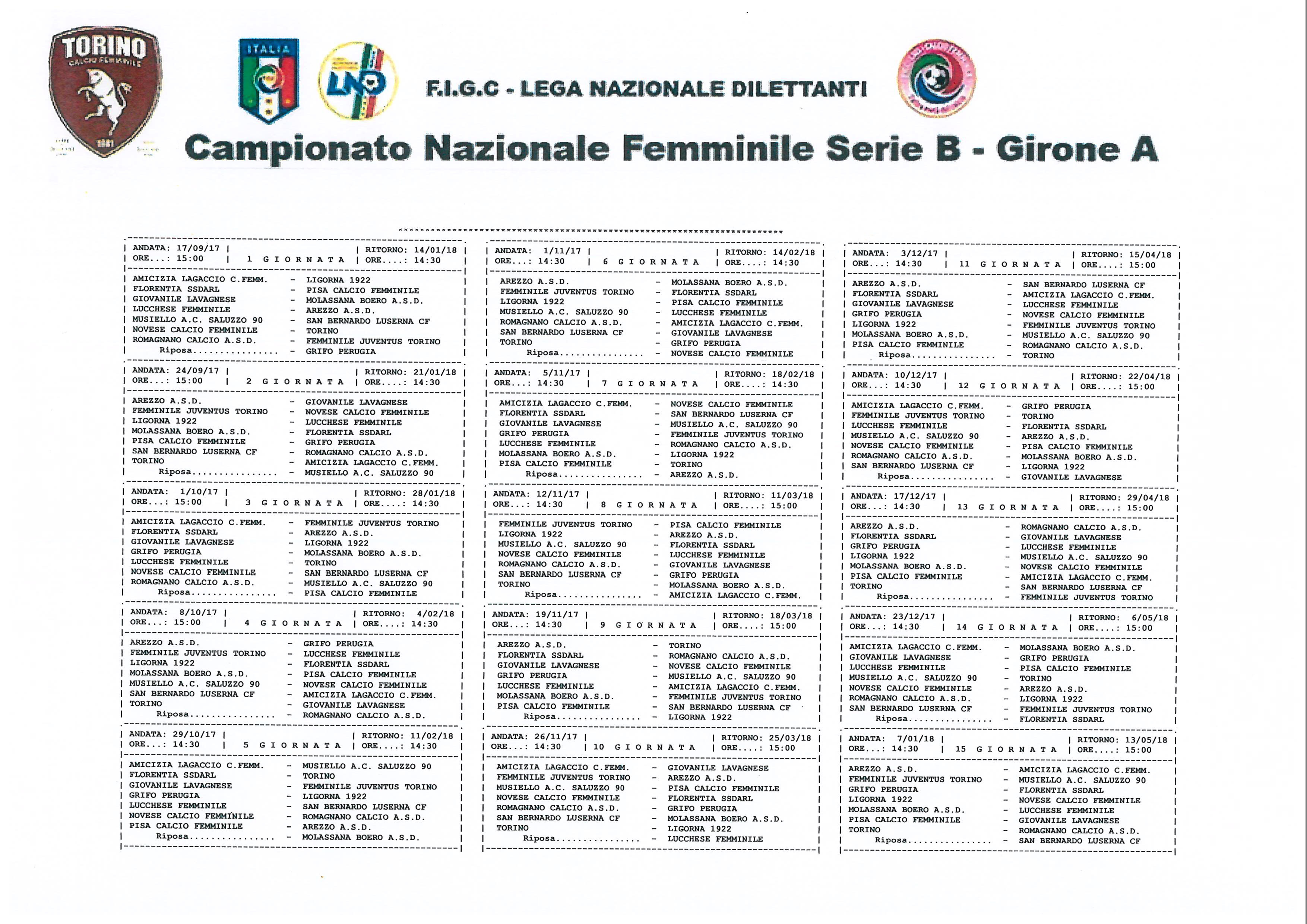 Calendario Calcio Femminile Serie B.Campionato Serie C Girone A 2018 2019 Benvenuti Su