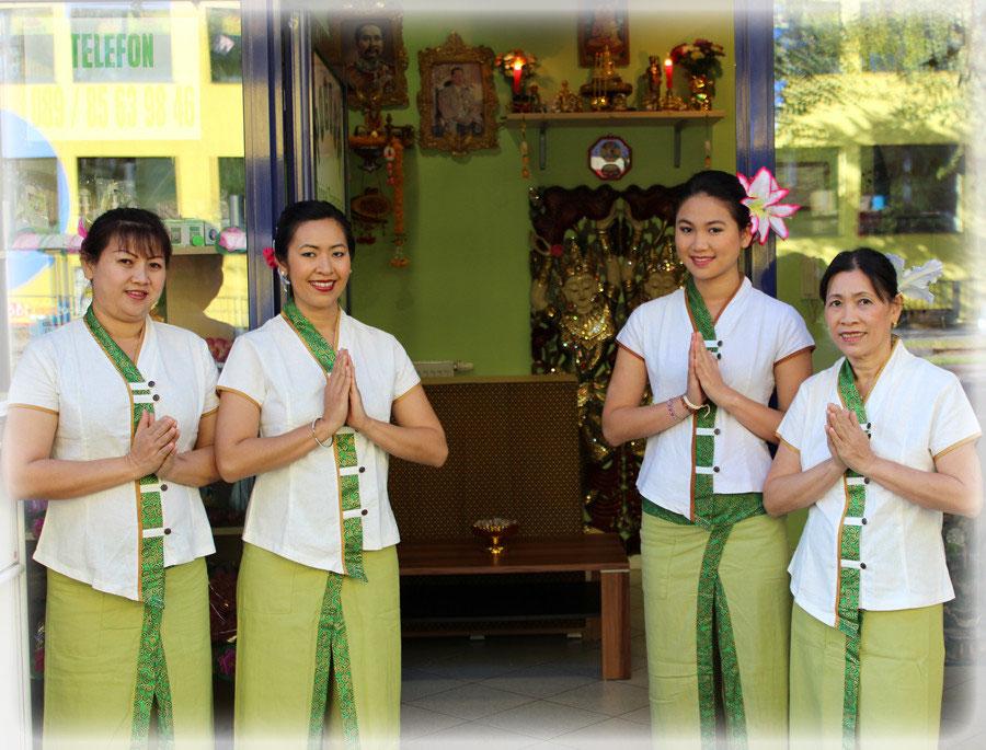 Heiße, asiatische Massage