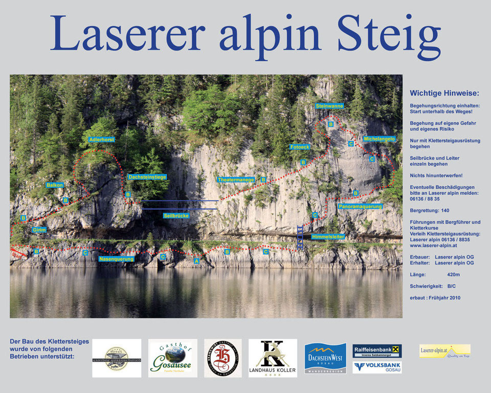 Klettersteig Gosau : Klettersteig am donnerkogel in gosau urlaub