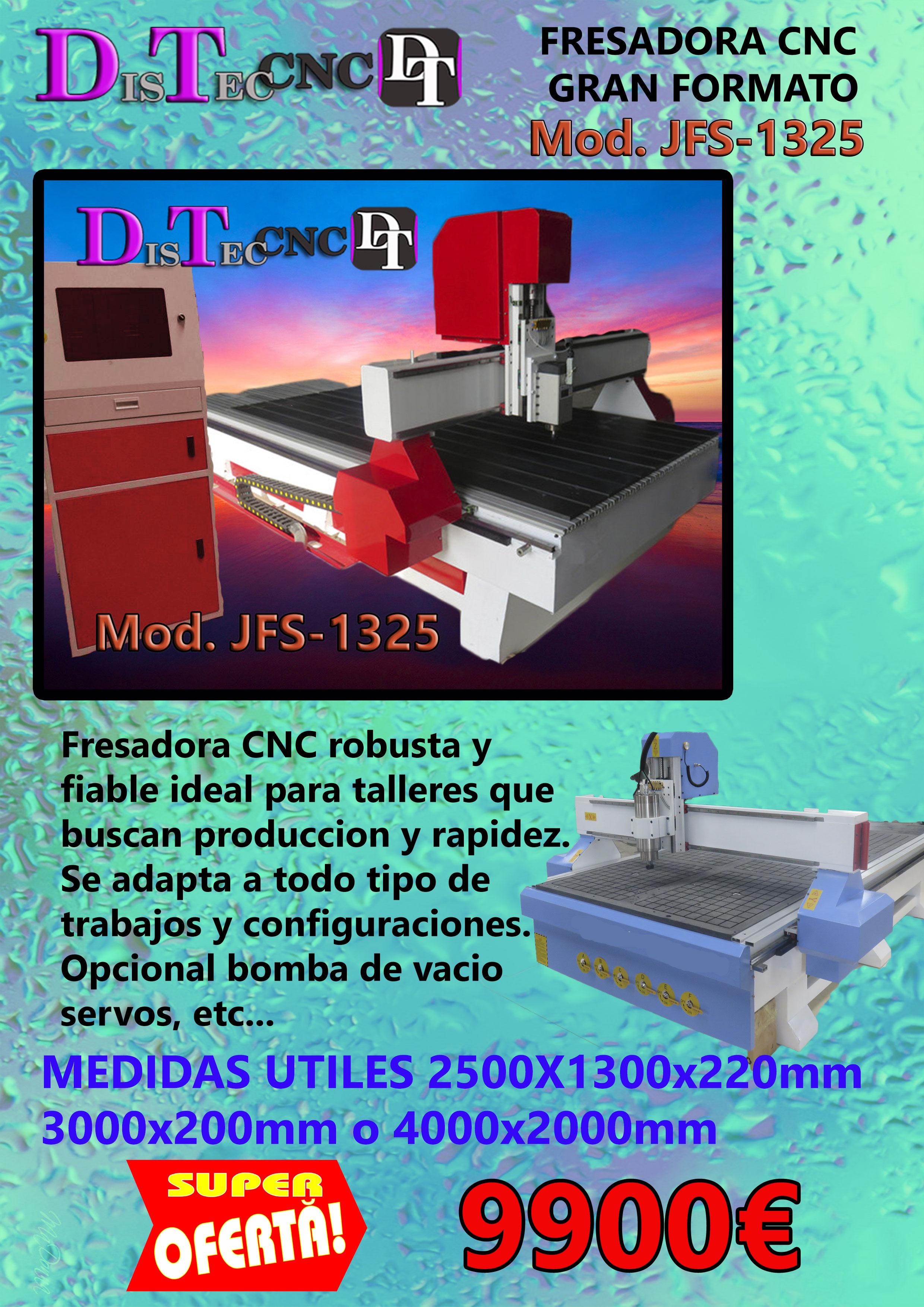 FRESADORA GRAN FORMATO - DISTEC CNC, Formación, asesoramiento y ...