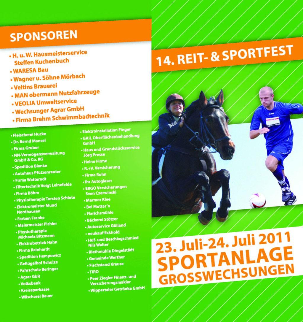 Sponsoren - LSG-Blau-Weiss Großwechsungen