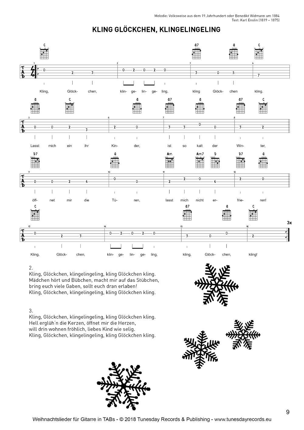 Mundharmonika Oh Tannenbaum.Weihnachtslieder Für Gitarre In Tabulatur Tabs Tunesday Records