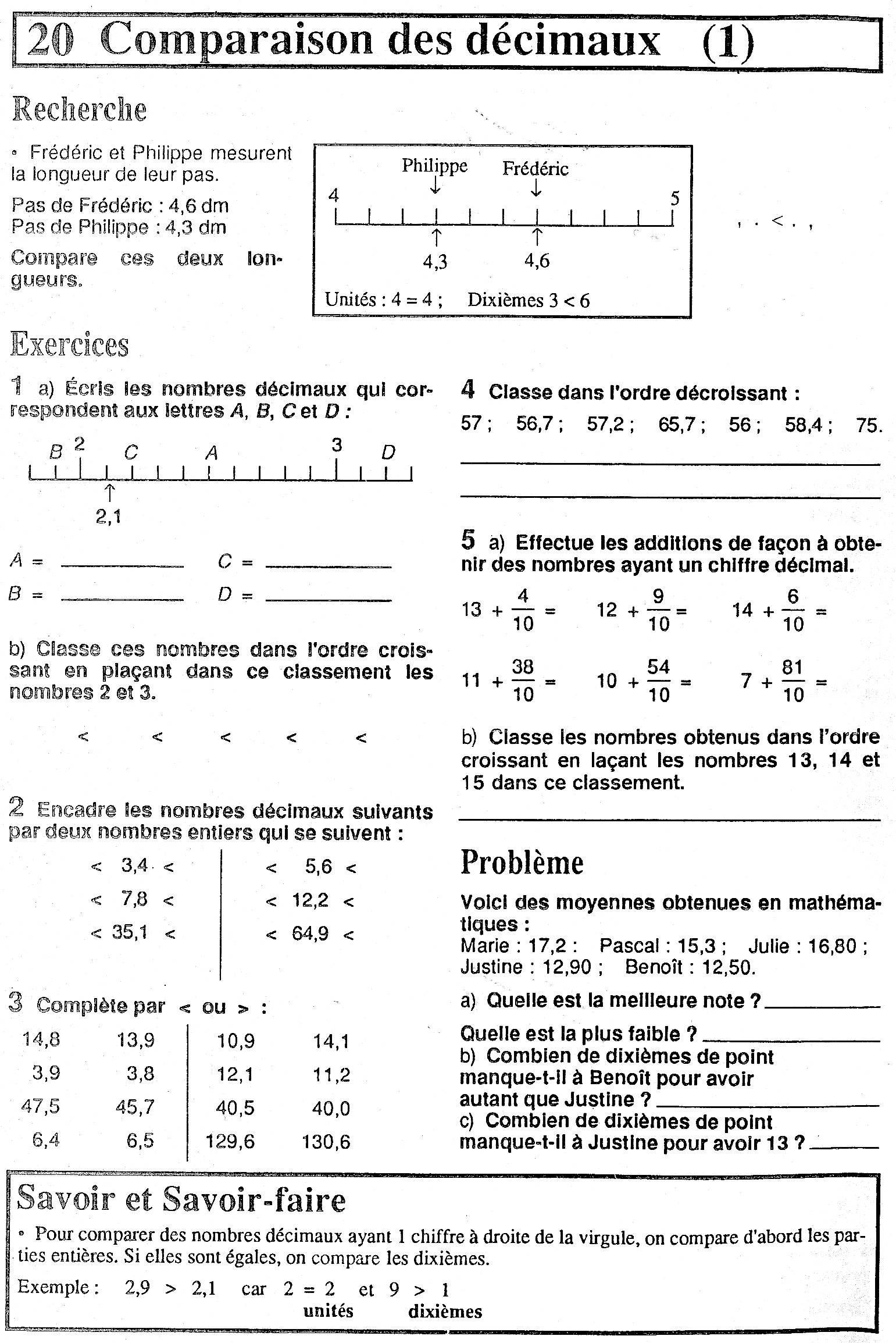 Maths Numeration Et Decimaux Site Du Cm2b Ecole Haut Poirier