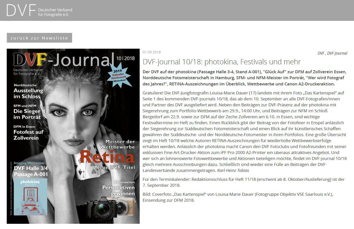 Im Spiegel der Presse - fotogruppe-objektiv-vse