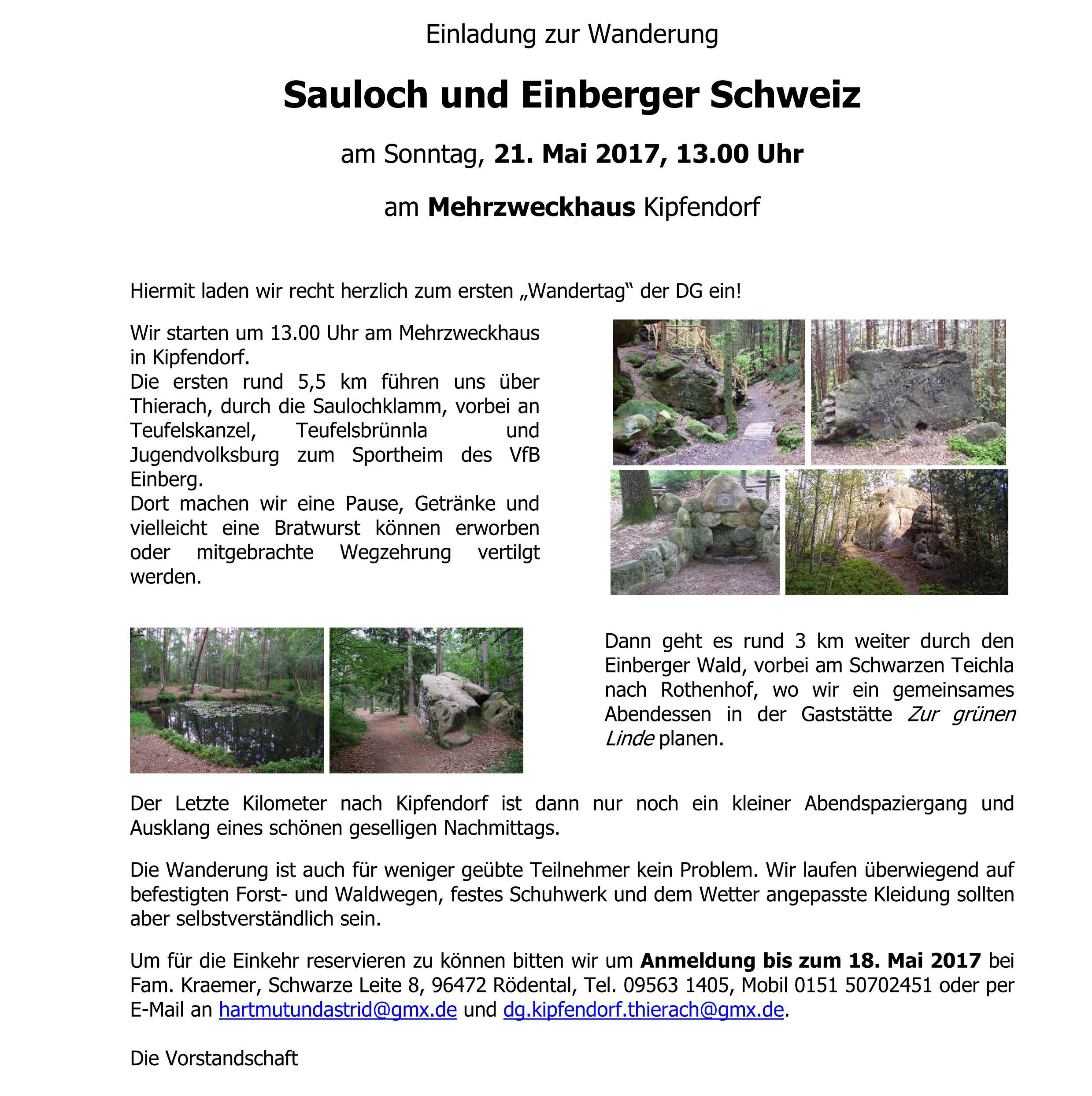 Zamm\' geht\'s! - Dorfgemeinschaft Kipfendorf/Thierach