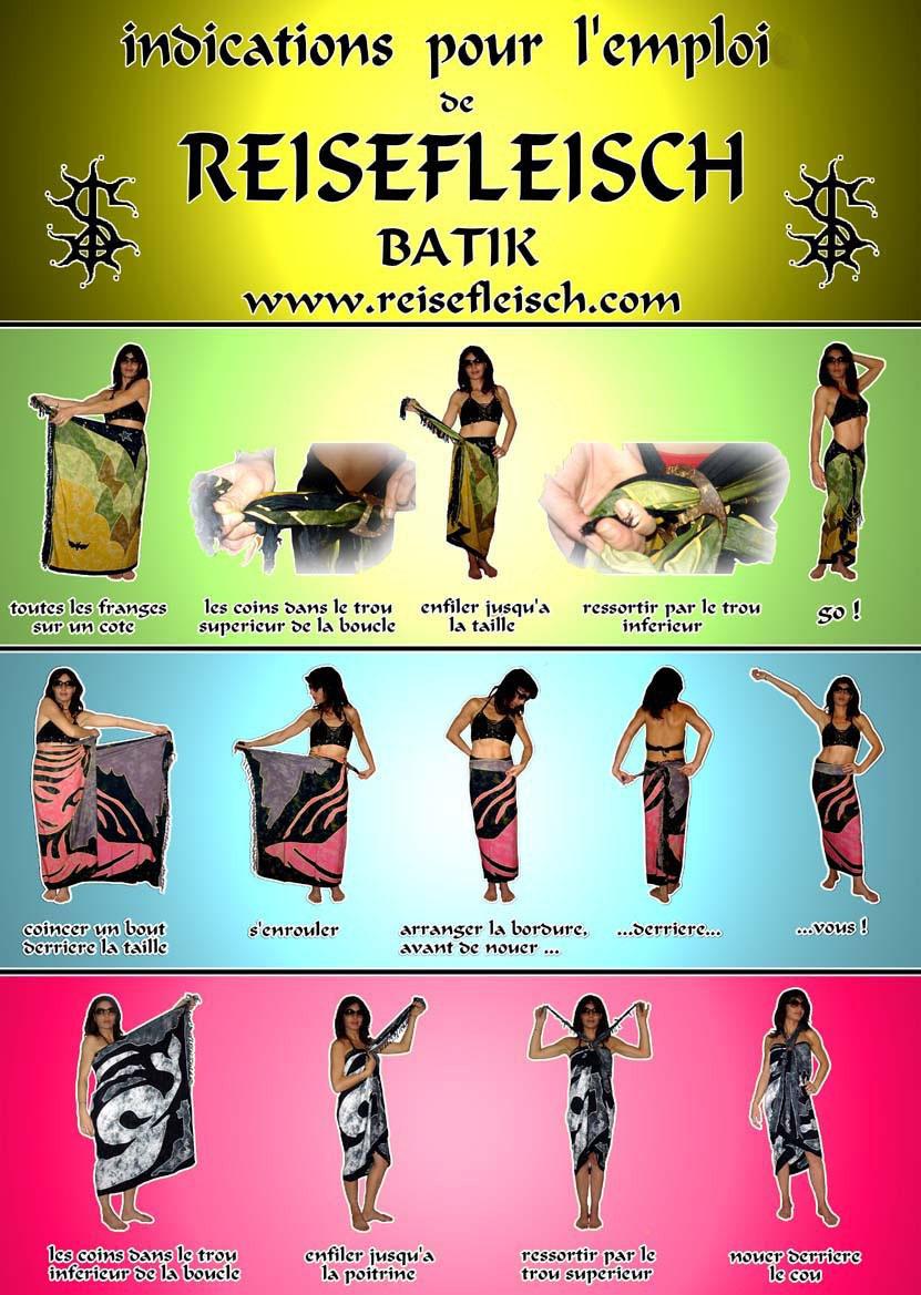 Mode Emploi Pareo Francais Reisefleisch Batik