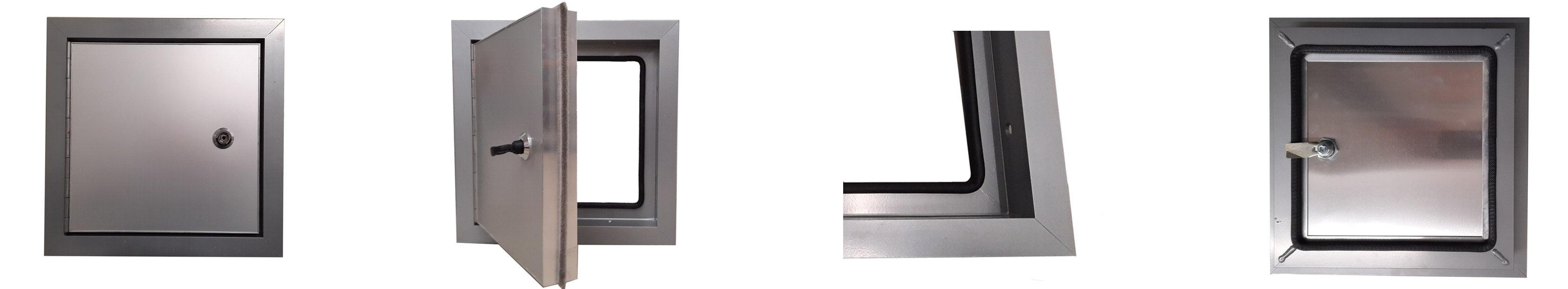 Trappe de visite 600x600mm avec cadre en alu et ouvrant en plaque de plâtre BA13