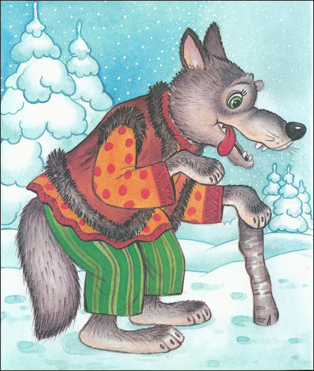 В картинках животные из русских народных сказок