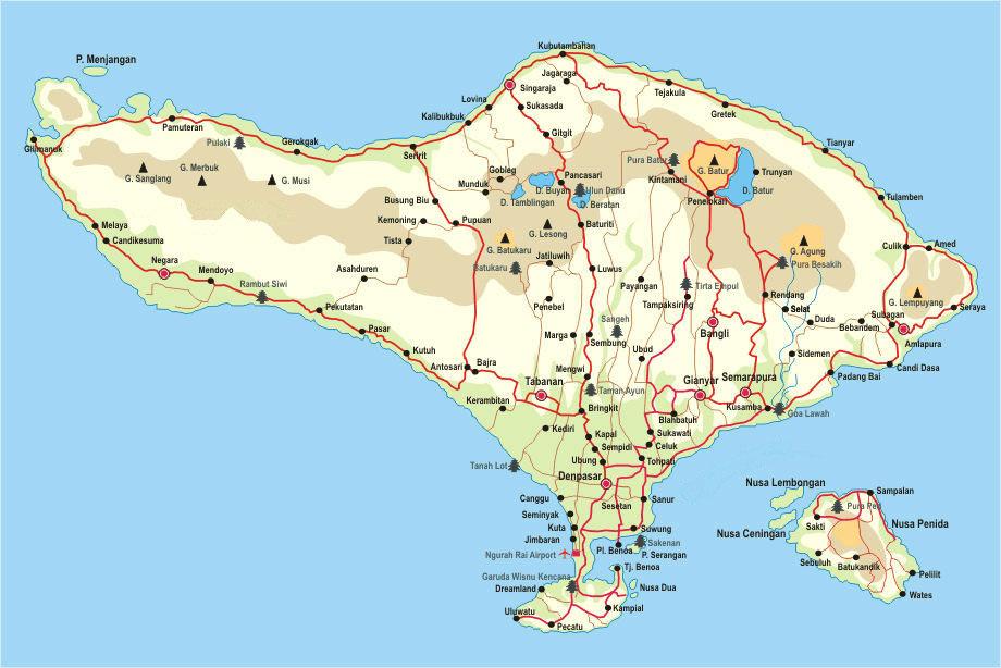 Carte Bali Indonesie Geographie.Ou Se Situe Bali Bali Rustique