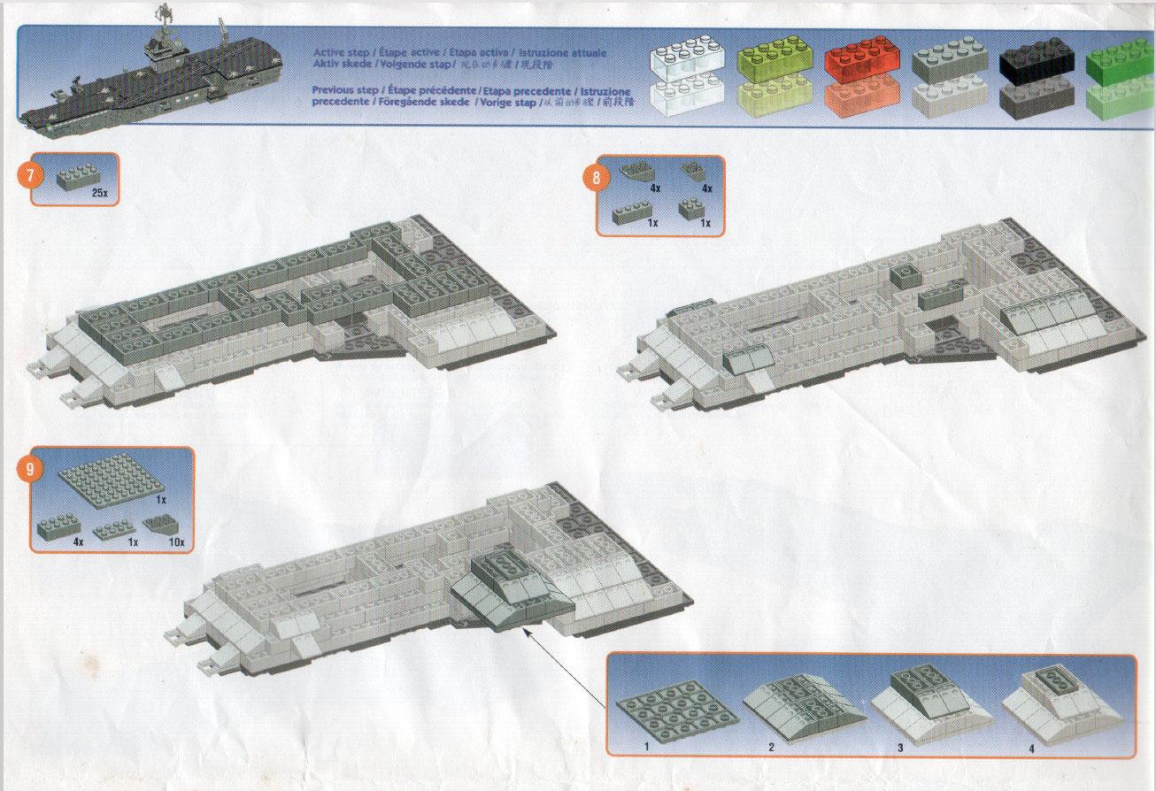 Instruction Manual Aircraft Carrier Building Bricks World