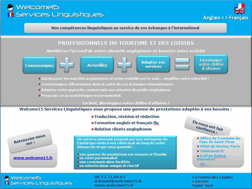 Documentation Professionnels Du Tourisme Welcome15 Services