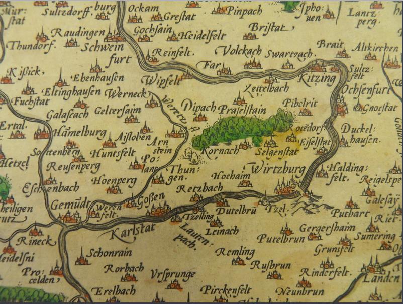 Karte Bamberg Landkarte.Schweinfurt Historische Landkarten Schweinfurtfuhrer Ein