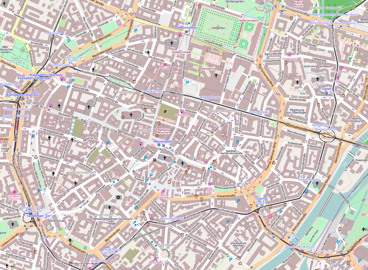 München Karte Schwarz Weiß.Stadtpläne In Allen Facetten Cartoart