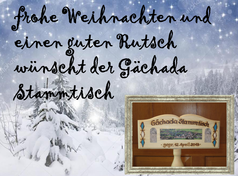 Weihnachtsgrüße An Erzieherinnen.Weihnachtsgrüße Vom Münchner Gächada Stammdisch Paparazzobex