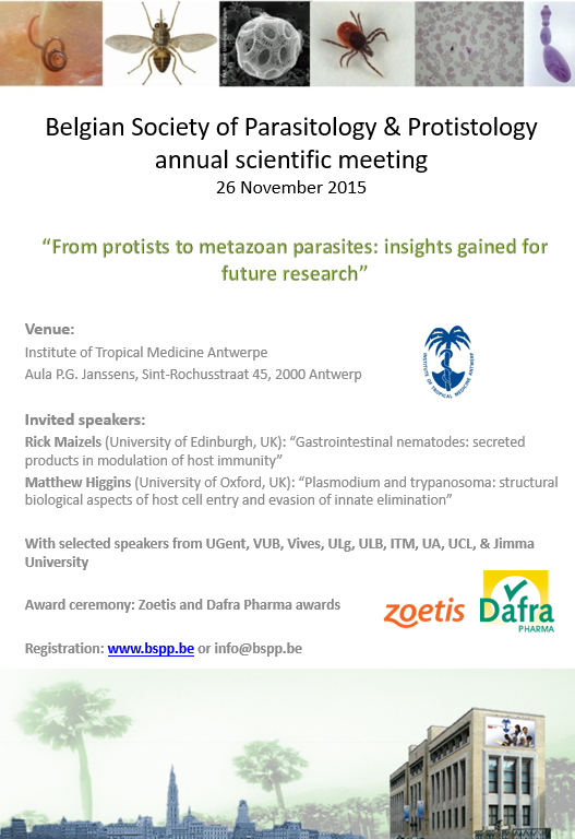 BSPP scientific meeting in Antwerp on 26 November 2015 - Belgian