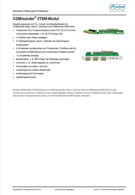 Auerswald COMmander 2TSM-R-Modul für COMmander 6000R