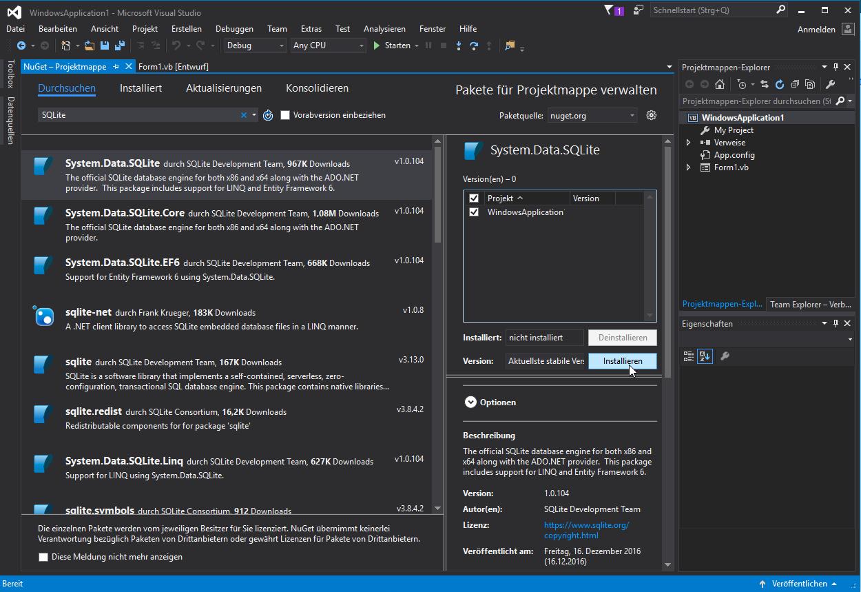 SQLite Datenbank in VB.net erstellen und nutzen - das kwoxt!