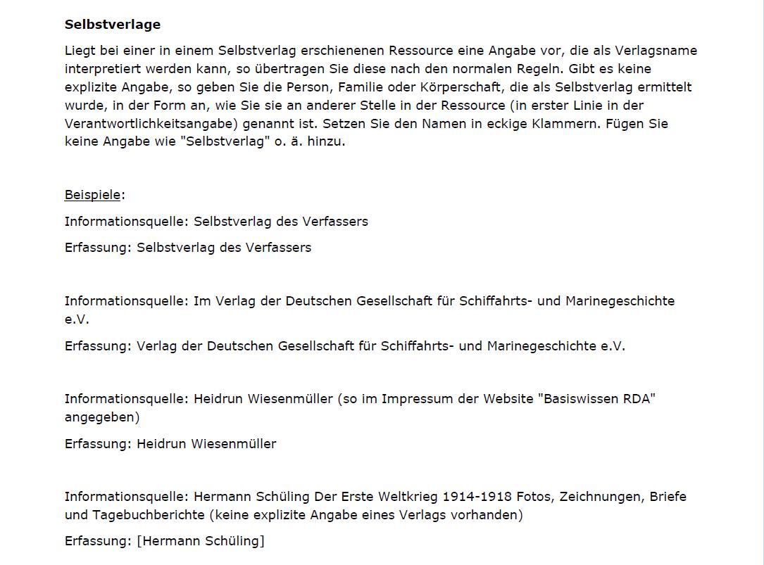 Neue D A Chs Zu Verlagsnamen Und Erscheinungsorten Basiswissen Rda