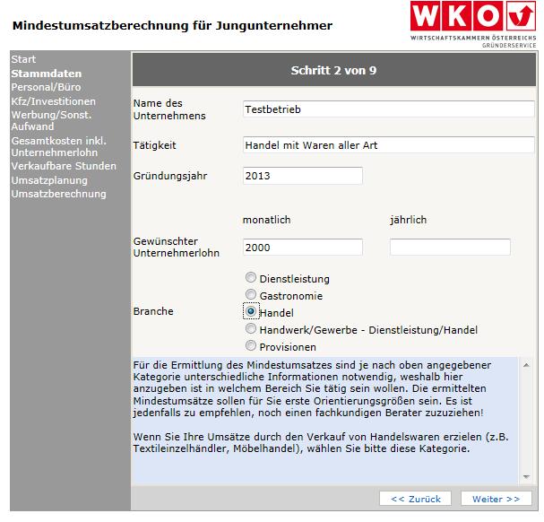 Unternehmensgründung Mindestumsatzberechnung Norbert Schweigercom