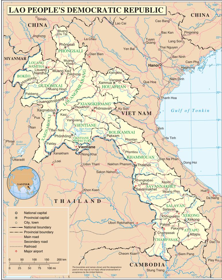 Laos Karte.Karte Laos Reisen Von Dieter Und Matthias