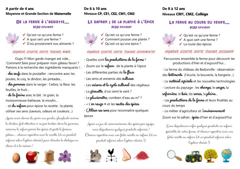 Ferme pédagogique - ferme de badonville - Safran De Smet ca2c30f6d8d