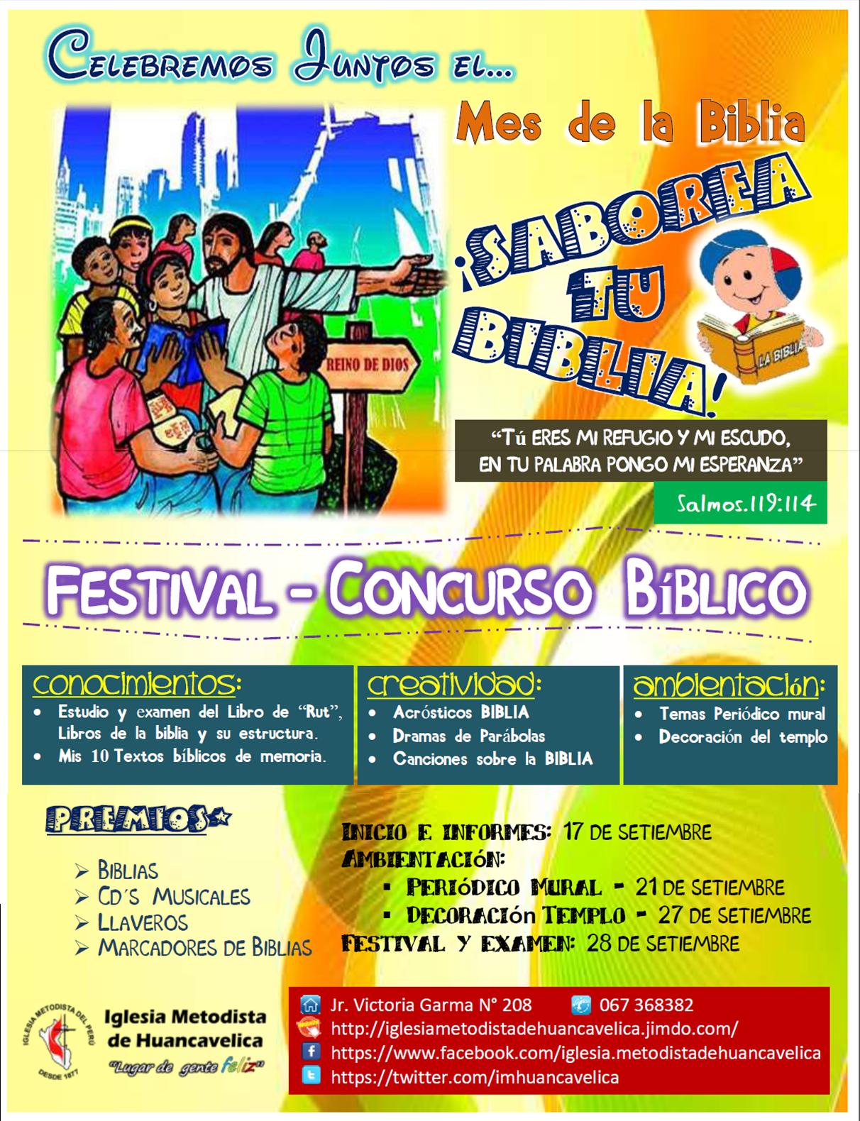 Festival Concurso Saborea Tu Biblia Iglesia Metodista De