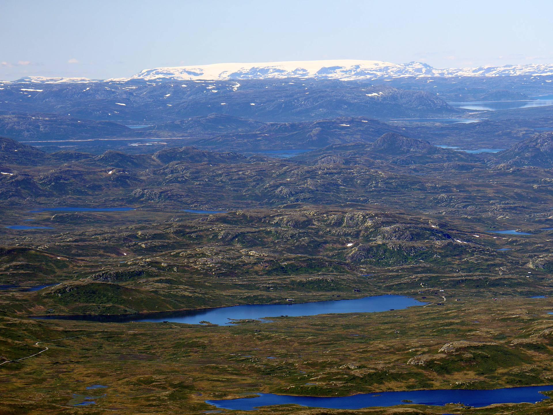 Gletschergebiet in der Ferne