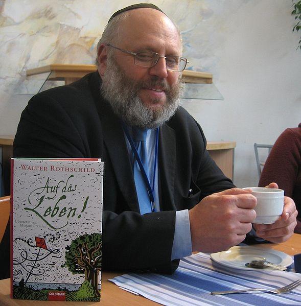 Sprach auf Einladung des Fördervereins liberale Synagoge über Rabbi Erich Bienheim: Rabbi Dr. Walter Rothschild
