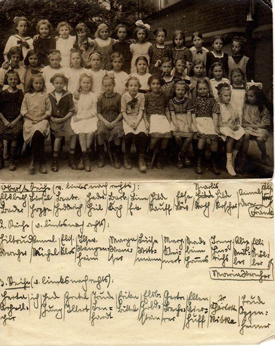 Elsbeth Juda (5. v.r., 1.Reihe) - als Schülerin der Viktoriaschule / Foto: FLS-Archiv
