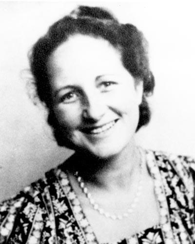 """Elisabeth Schumacher: Geboren 1904 in Darmstadt, von den Nazis wegen ihrer Mitgliedschaft in der Widerstandsgruppe """"Rote Kapelle"""" 1942 in Berlin-Plötzensee ermordet"""
