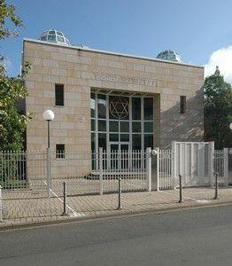 1988 auf Initiative des SPD-Stadtverordneten Rüdiger Breuer eingeweiht: Die Neue Synagoge Darmstadt in der Wilhelm-Glässing-Str.