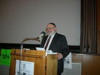 Rabbi Walter Rothschild beim Förderverein Liberale Synagoge-Vortrag über Erich Bienheim / Foto: FLS