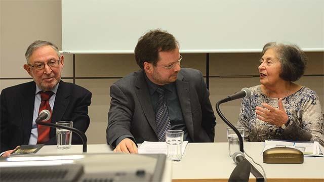 Hanna Skop und Bernhard Posner zu Gast beim Förderverein Liberale Synagoge (c) Heinertown/Andreas Kelm