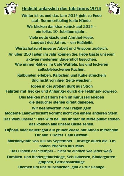 2014 - 10 Jahre Almthof