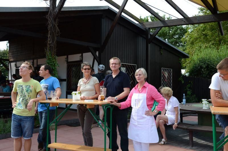 40-Jahr-Jubiläums-Feier SKG Stockstadt Tennis - Zuschauer beim Schowmatch