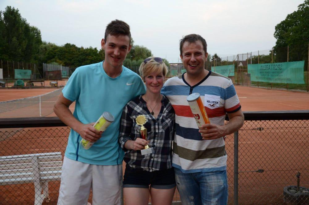 Die drei Stockstädter Turniersieger - Jannik Siegler, Jana Klar und Marco Metzger