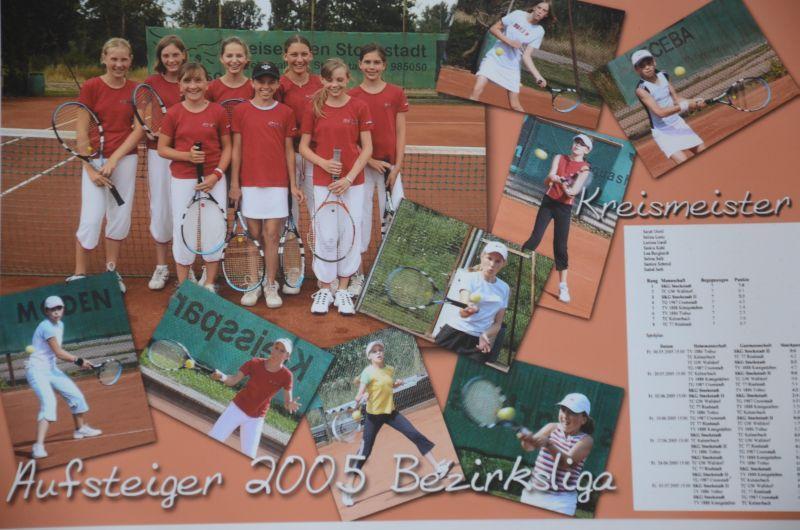 Jahr 2005: Juniorinnen U14 - Aufstieg in die Bezirksliga